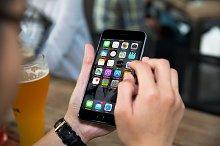 iPhone6 mockup, Beer