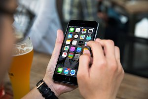 iPhone6 mockup, Beer