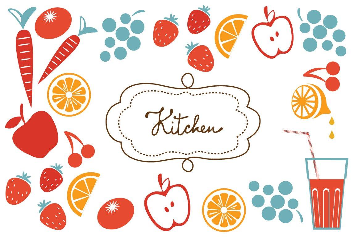 Big kitchen set illustrations creative market for Big kitchen set