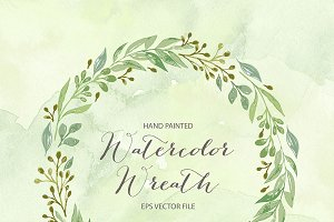 Vector watercolor wreath