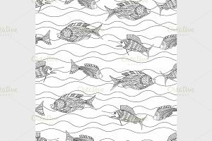 Tangle Patterns fish background