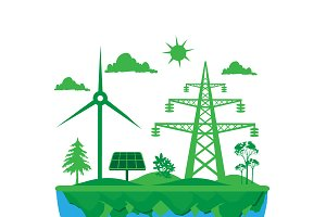 green planet, renewable energy
