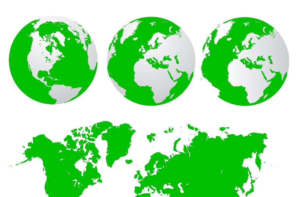 Earth Globe Map World Illustrations Creative Market