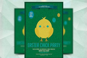 Easter Chick Party - Flyer Template