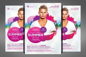 Summer Electro DJ Flyer Template