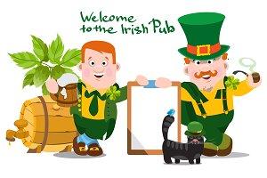 Welcome to the Irish bar. Large set.