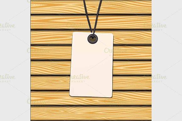 Label on wood