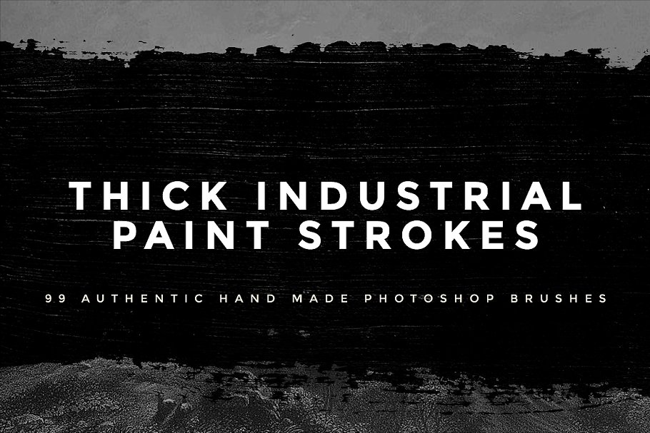 99 Thick Industrial Paint Strokes ~ Photoshop Add-Ons