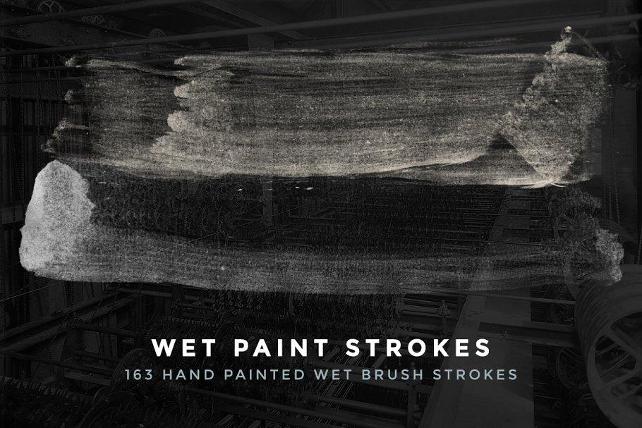 163 Wet Paint Strokes - Brush Set ~ Photoshop Add-Ons ~ Creative Market