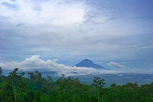 Volcano on Bali island