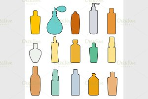 Bottle set doodle
