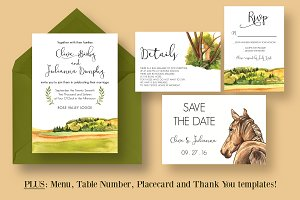 Country Wedding Invitation Suite