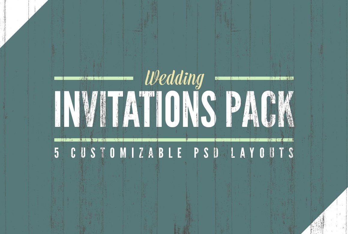 Wedding Invitation Templates Pack ~ Invitation Templates ~ Creative ...