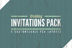 Wedding Invitation Templates Pack