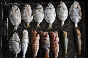 baked fish,