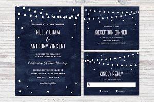 Printable Celestial Wedding Set PSD