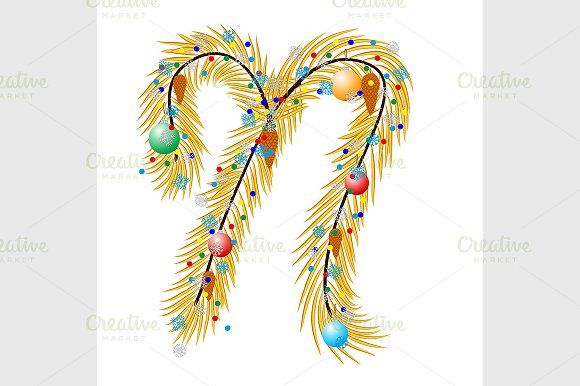 Letter. Made of a Christmas - Graphics