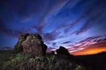 Night landscape in summer