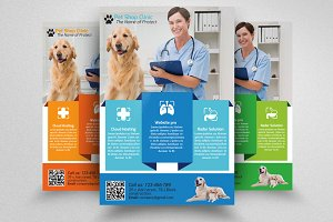Pet Care Clinic Flyer Template
