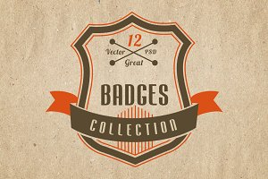 Retro and Vintage Badges