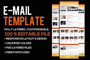 Business Email PSD Template