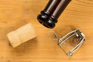 Cork from bottle of belgium ale