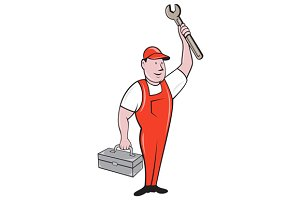 Mechanic Raising Wrench Holding
