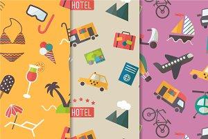 Travel theme seamless pattern