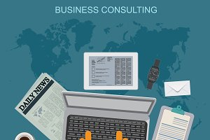 business consulting, vector