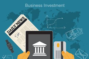business investment, vector