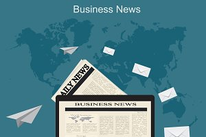 business news, vector