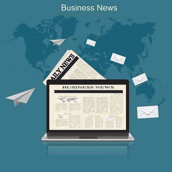 business news, vector