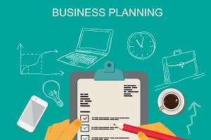 business planning, vector
