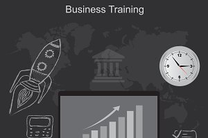 business training, vector