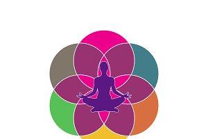 yoga concept, vector