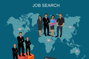job hunters, vector