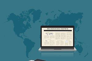online news, vector