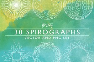 30 Spirographs Vol 1 – Vector & PNGs