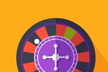 Roulette Flat Design on Background