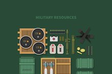 Military Resources Flat Design