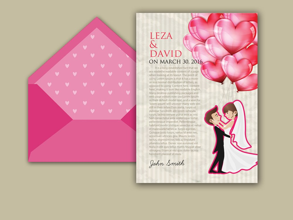 Wedding Invitation Card Template ~ Card Templates ~ Creative Market