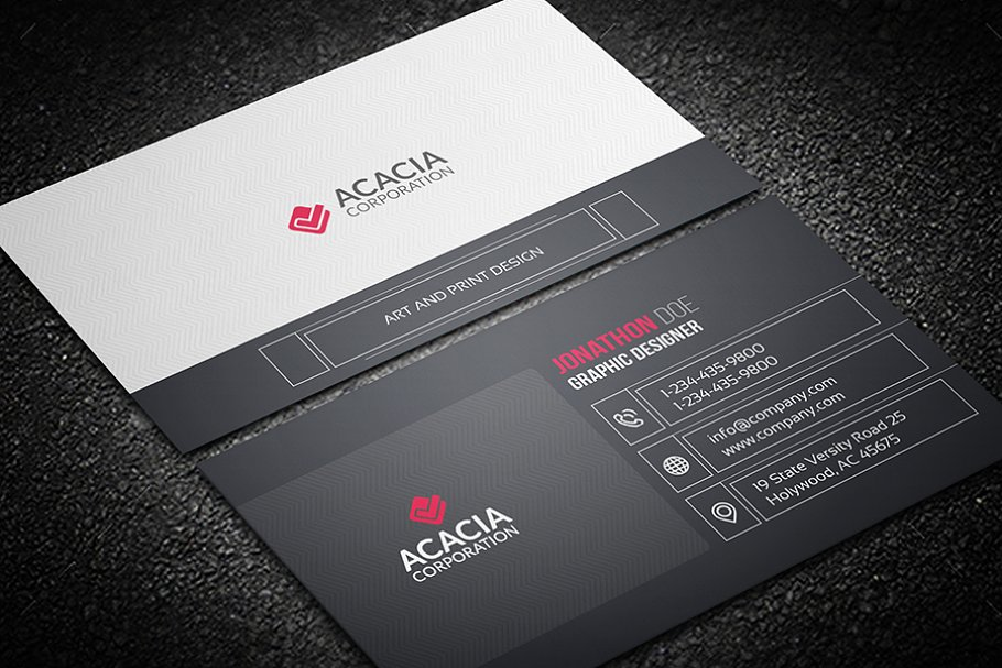 Line Business Card in Business Card Templates - product preview 3