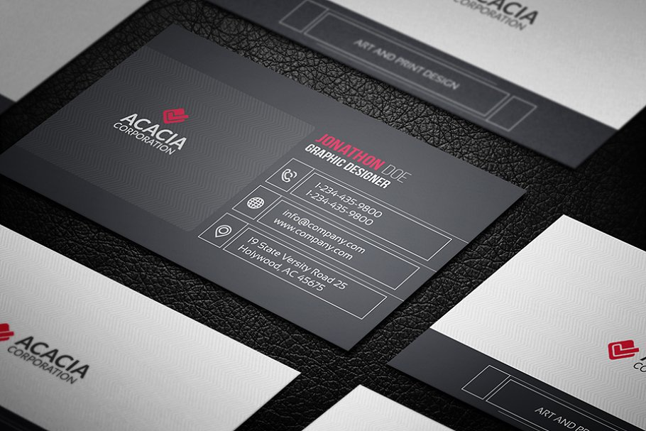 Line Business Card in Business Card Templates - product preview 2