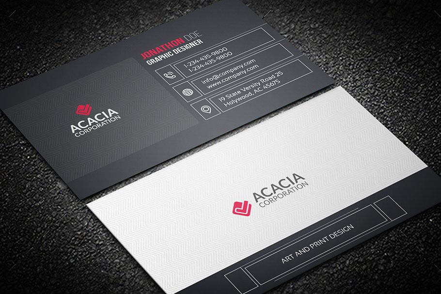 Line Business Card in Business Card Templates - product preview 1