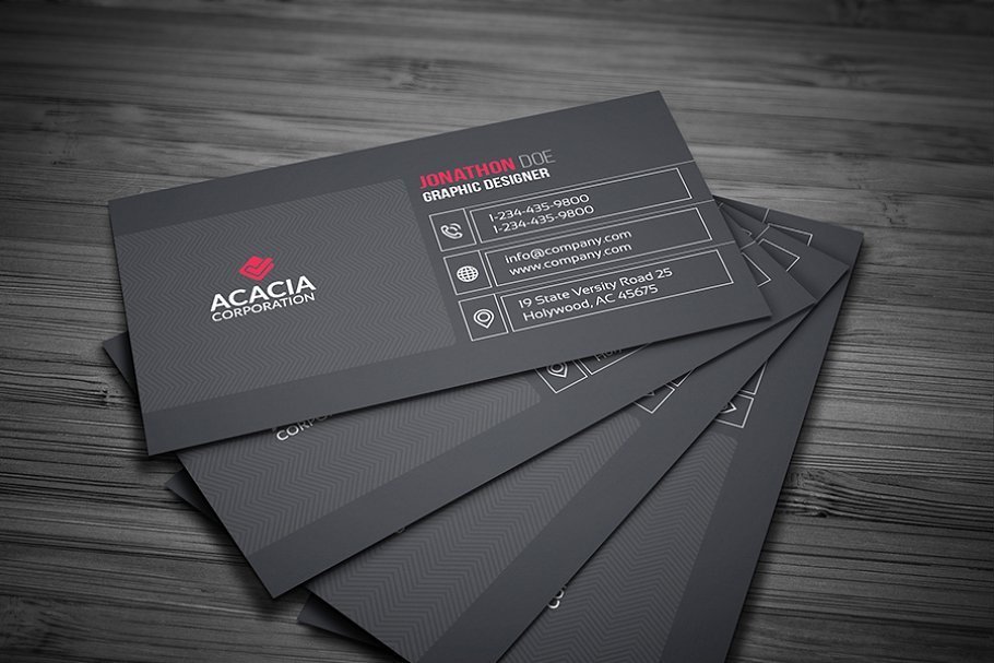 Line Business Card in Business Card Templates