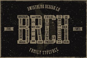 Brch Family Typeface