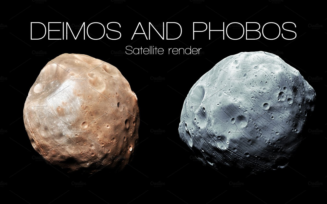 Deimos and Phobos - High resolution 3D images presents ...