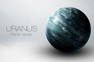 Uranus - High resolution 3D images presents planets of the solar system. This image elements furnished by NASA.