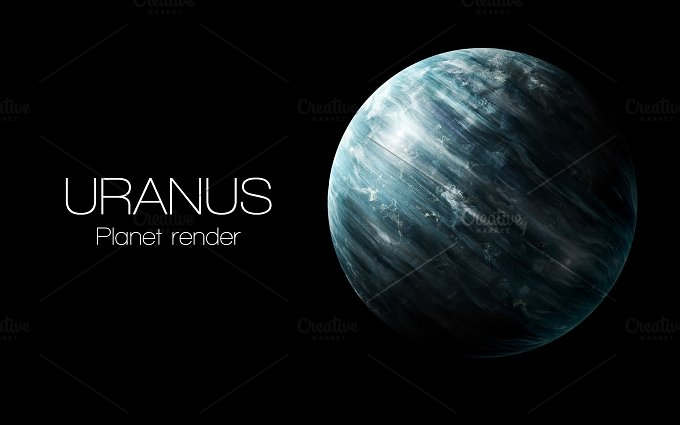 Uranus - High resolution 3D images presents planets of the solar system. This image elements furnished by NASA. - Education