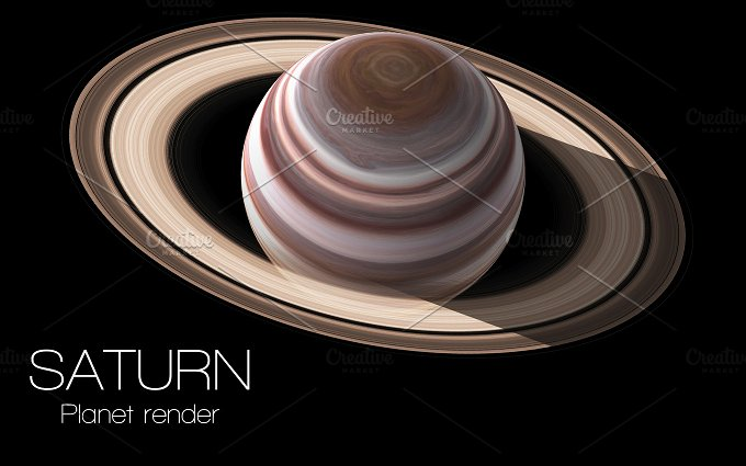 Saturn - High resolution 3D images presents planets of the solar system. This image elements furnished by NASA. - Education